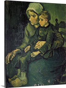 Mother and Child, 1885 (oil on canvas)