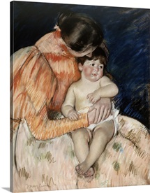 Mother and Child, 1890s (pastel on paper)
