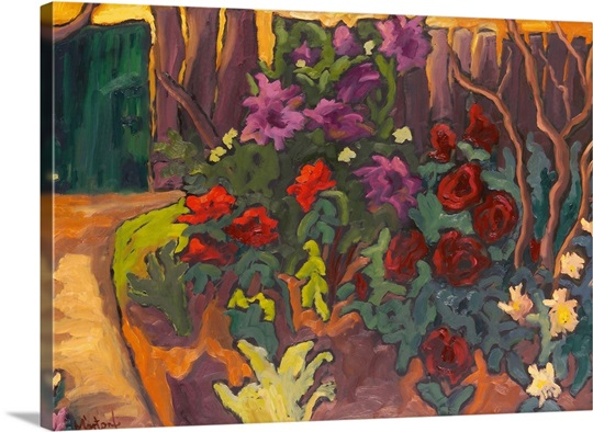 Mum's Garden, 2003 (oil on board)