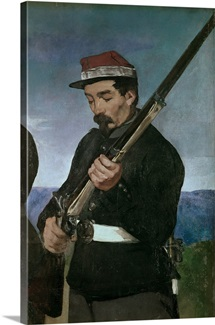 Non Commissoned Officer holding his Rifle (oil on canvas)