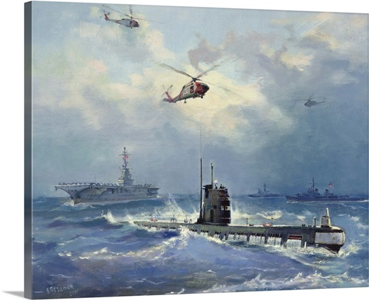 Operation Kama. Carribean Crisis in October 1962 (oil on canvas)
