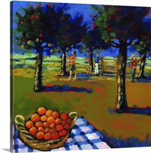 Orange picking, 2008 (acrylic on board)