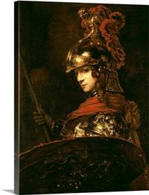 Pallas Athena or, Armoured Figure, 1664 65 (oil on canvas)
