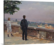 Paris from the observatory at Meudon (oil on canvas)