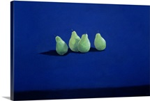 Pears on a Blue Cloth