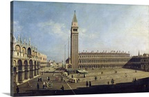 Piazza San Marco, Venice (oil on canvas)