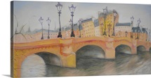Pont Neuf et Ile de la Cite, 2010 (oil on canvas)