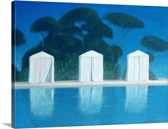 Pool Tents (oil on canvas)