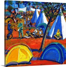 Pop festival, 2008 (acrylic on board)