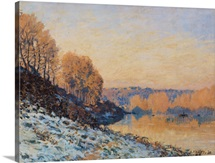Port Marly, White Frost, 1872 (oil on canvas)