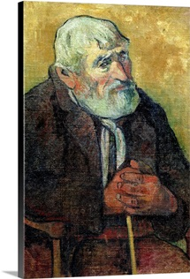 Portrait of an Old Man with a Stick, 1889 90 (oil on canvas)