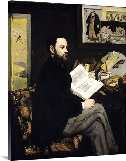 Portrait of Emile Zola (1840 1902) 1868 (oil on canvas)