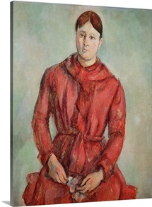 Portrait of Madame Cezanne in a Red Dress, c.1890 (oil on canvas)