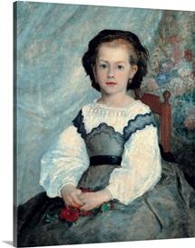Portrait of Mademoiselle Romaine Lacaux, 1864 (oil on canvas)