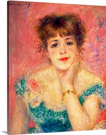 Portrait of the actress Jeanne Samary, 1877 (study)