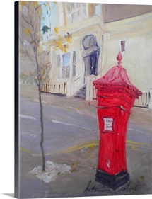 Post Box (oil on canvas)