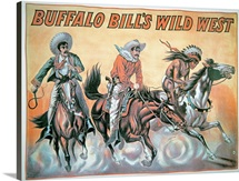 Poster for Buffalo Bill&amp;#39;s (1846-1917) Wild West Show, 1898 (colour litho)