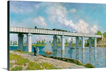 Railway Bridge at Argenteuil, 1873 (oil on canvas)