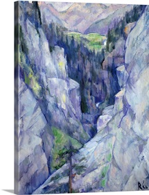 Ravine at Pians, 1921 (oil on canvas)