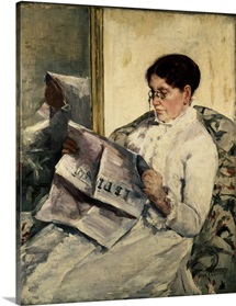 Reading Le Figaro, 1878