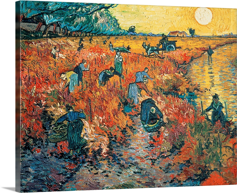 Red Vineyards at Arles, 1888 (oil on canvas)
