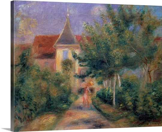 Renoirs house at Essoyes, 1906 (oil on canvas)