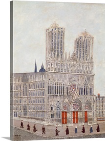Rheims Cathedral, c.1923 (oil on canvas)