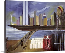 River of Babylon (oil on canvas)