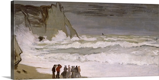 Rough Sea at Etretat, 1868 69 (oil on canvas)
