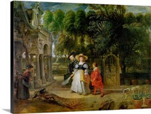 Rubens and Helene Fourment (1614 73) in the Garden (oil on panel)