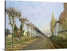 Rue de la Machine, Louveciennes, 1873 (oil on canvas)