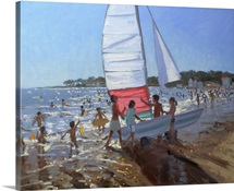 Sailboat, Palais Sur Mer, 2008 (oil on canavas)
