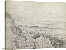 Salisbury Plain from Old Sarum, 1829 (graphite on paper)