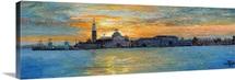 San Giorgio, Venice Lagoon, 2008 (oil on board)