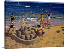 Sandcastle, France, 1999 (oil on canvas)