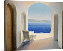 Santorini 9 (oil on board)