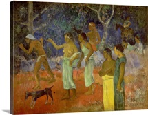 Scene from Tahitian Life, 1896 (oil on canvas)