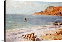 Seascape at Sainte-Adresse (oil on canvas)