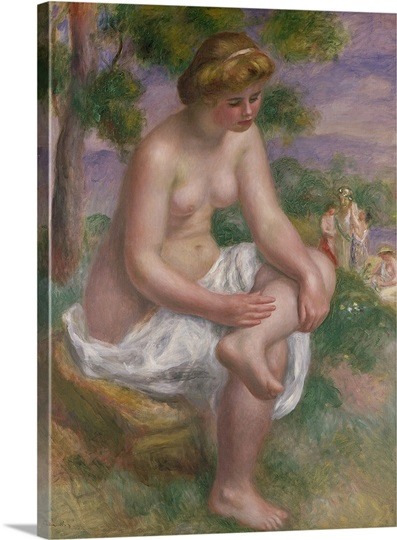 Seated Bather in a Landscape or, Eurydice, 1895 1900 (oil on canvas)