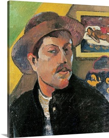 Self Portrait in a Hat, 1893 94 (oil on canvas)
