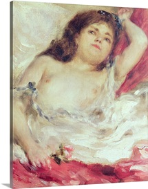 Semi Nude Woman in Bed: The Rose, before 1872 (oil on canvas)