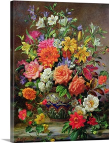 September Flowers, Symbols of Hope and Joy (oil on canvas)