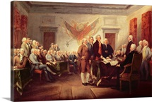 Signing the Declaration of Independence, 4th July 1776, c.1817 (oil on canvas)