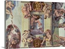 Sistine Chapel Ceiling (1508 12): The Creation of Eve, 1510 (fresco) (post restoration)