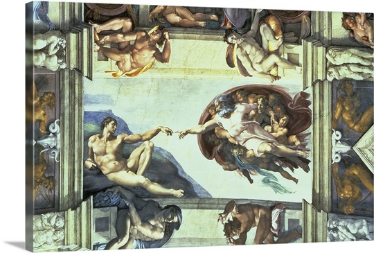 a report on michelangelos fresco creation of adam on the ceiling of the sistine chapel Creation of adam, fresco, sistine chapel, vatican, michelangelo buonarroti, 1512 chapel michelangelo sistine adam ceiling.