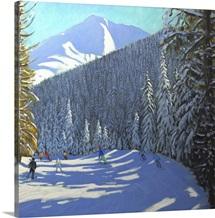 Skiing Beauregard, La Clusaz
