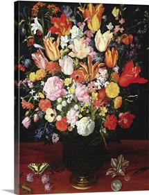 Still life of flowers, 1610s (oil on panel)