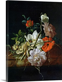 Still Life with Flowers (oil on canvas)