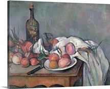Still Life with Onions, c.1895 (oil on canvas)