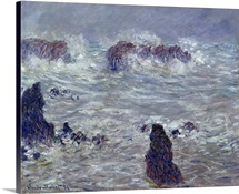 Storm, off the Coast of Belle Ile, 1886 (oil on canvas)